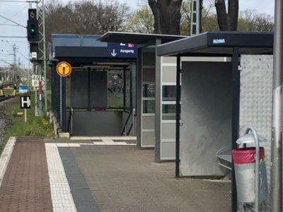 Blick auf den Bahnhof Groß Kreutz
